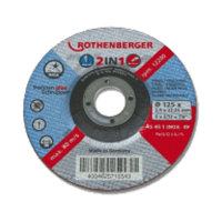 ROTHENBERGER Inox 2 in 1 vágókorong, 125x2.5x22mm, 1db - gepesz.hu